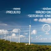 Imagem de um parque eólico onde será aplicado sistema de locação de radiocomunicação